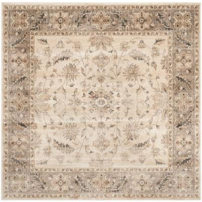 Vintage Stone/Mouse 6 ft. x 6 ft. Square Area Rug