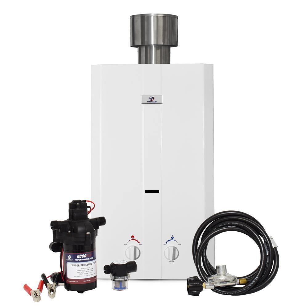 On Demand Water Heater Propane Outdoor Tankless Cabin Cottage RV 75,000 BTU/'s