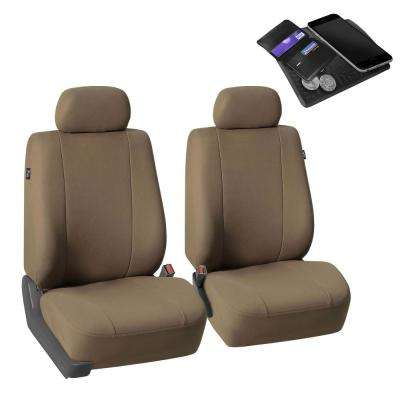 Car Seat Covers Multifunctional Fabric Covers for Auto Car SUV Taupe