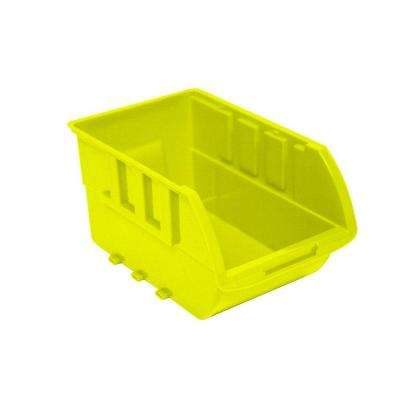 1-Compartment Stackable Bin Small Parts Organizer in Yellow