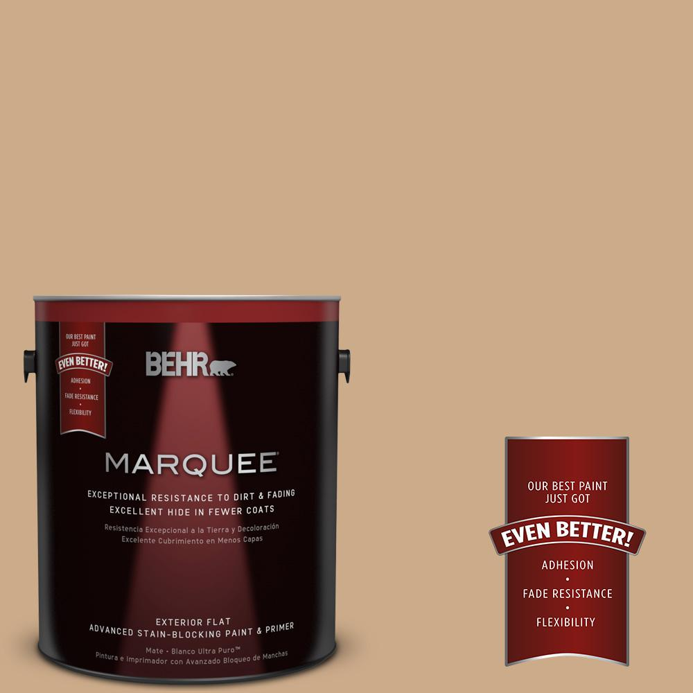 BEHR MARQUEE 1-gal. #N280-4 Perfect Tan Flat Exterior Paint
