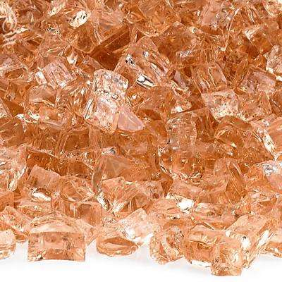 1/4 in. Champagne Fire Glass 10 lbs. Bag