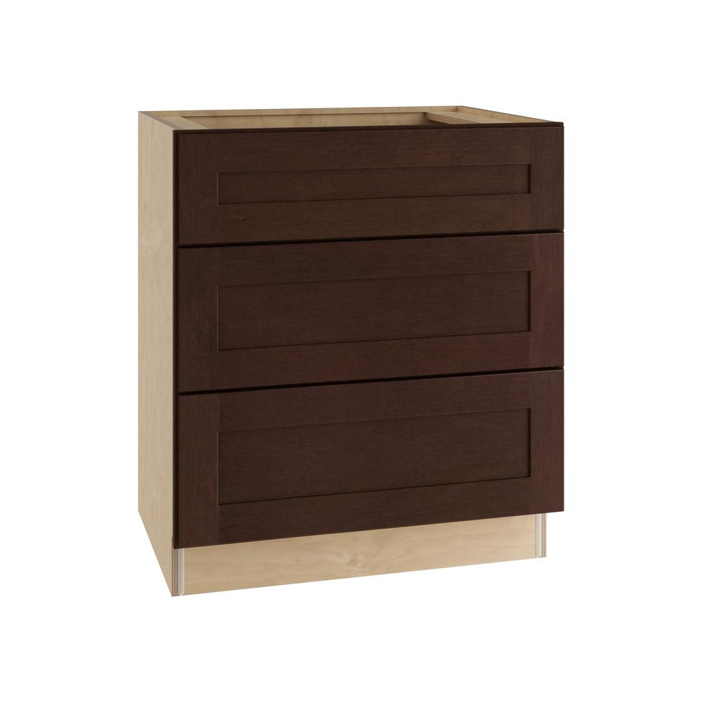 Franklin Assembled 30x34.5x24 in. Single False Front & 2 Deep Drawers