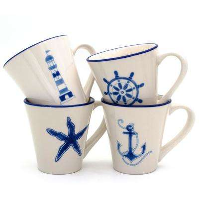 Ahoy 4-PieceAssorted Mug Set