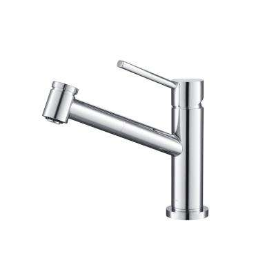 Metrolux Gooseneck 1.8 GPM CalGreen Single-Handle Pull-out Sprayer Kitchen Faucet in Chrome
