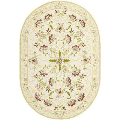 Chelsea Ivory/Green 8 ft. x 10 ft. Oval Area Rug