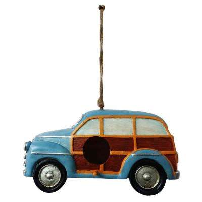Hanging Blue Stationwagon Birdhouse