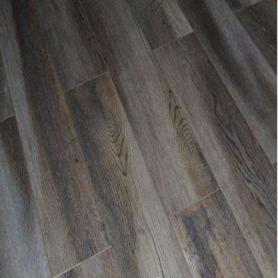 Wood Ash Oak 12 mm Thick x 5.7 in. Wide x 48 in. Length Click-Locking Laminate Flooring Planks (13.27 sq. ft. / case)