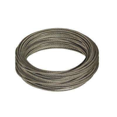 3/32 in. x 50 ft. Galvanized Steel Uncoated Wire Rope