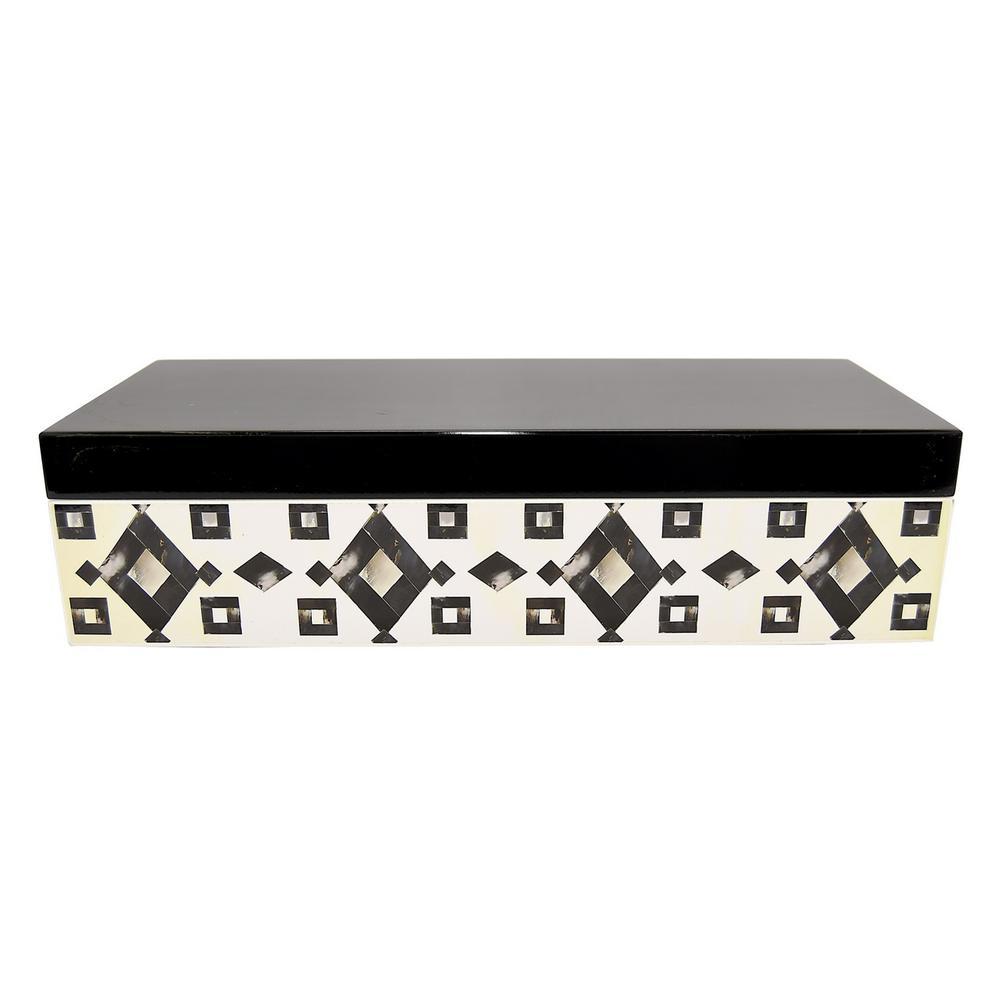 4 in. Wood Box in Black