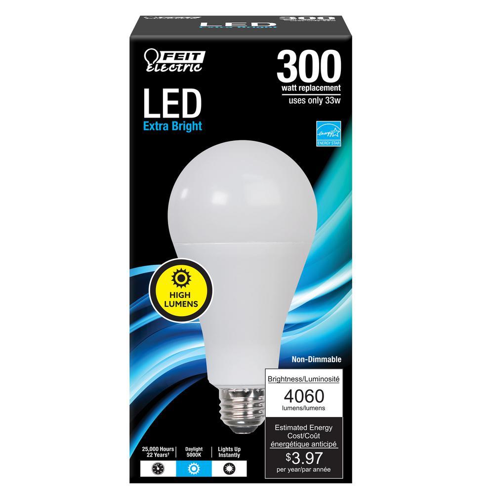 300-Watt Equivalent A23 ENERGY STAR LED Bright Light Bulb in Daylight (5000K) (12-Pack)