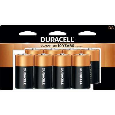 Coppertop Alkaline D Battery (8-Pack)