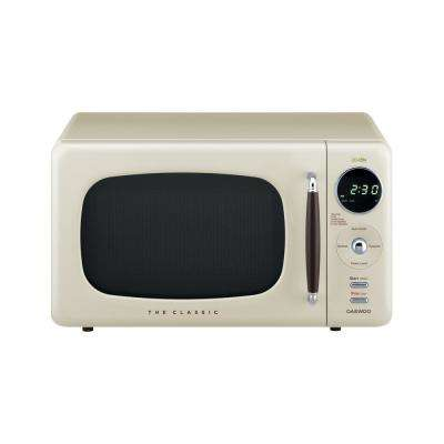 Retro 0.7 cu. Ft. Countertop Microwave in Cream