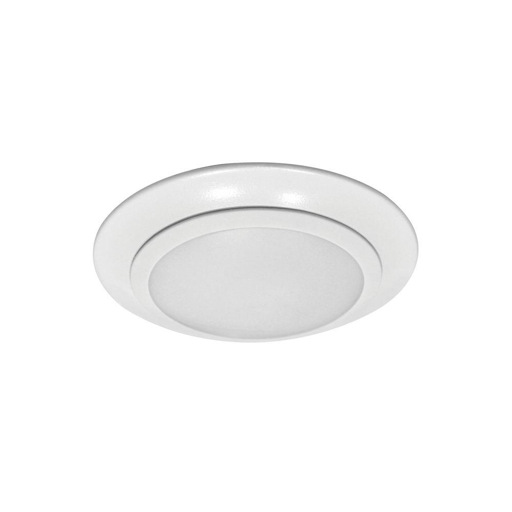 Sea Gull Lighting Traverse 6 In White Integrated Led Recessed Surface Mount Retrofit Kit