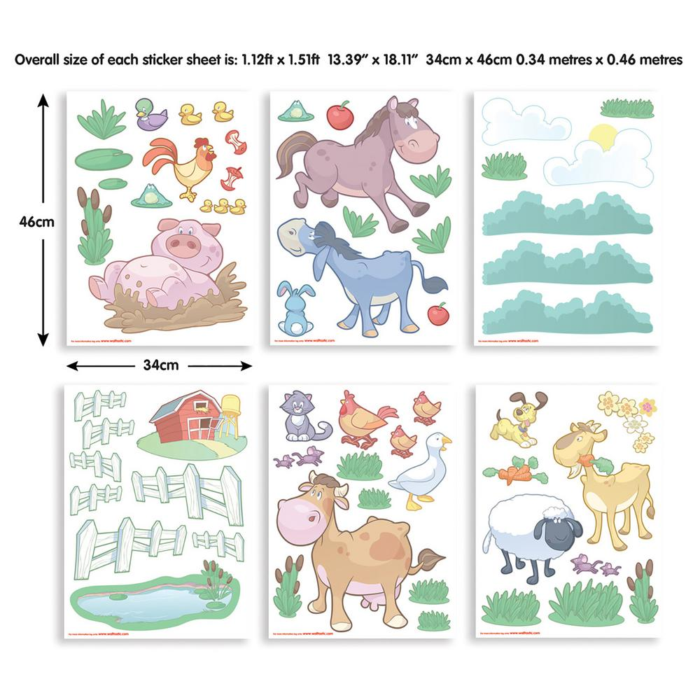 Farm wall stickers gallery home wall decoration ideas walltastic multi color my first jcb wall stickers wt43152 the multi color baby fun on the amipublicfo Images