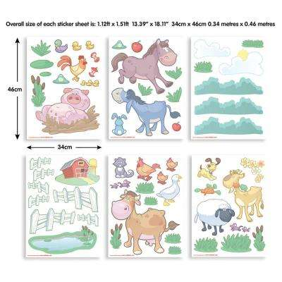 Multi-Color Baby Fun On The Farm Wall Stickers