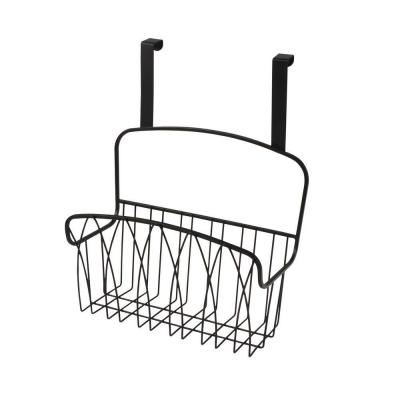 Twist 10.75 in. W x 6.125 in. D x 14 in. H Over the Cabinet Large Basket in Black