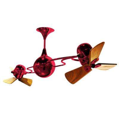 Italo Ventania 62 in. Indoor/Outdoor Red Ceiling Fan with Wall Control