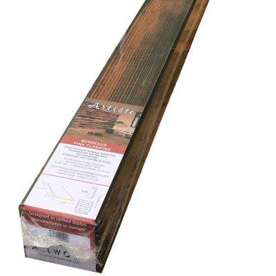 Allwood Artiste 3/8 in x 4 in x 79 in Weathered Barn Wood Wall Paneling Kit (20 sq. ft.)