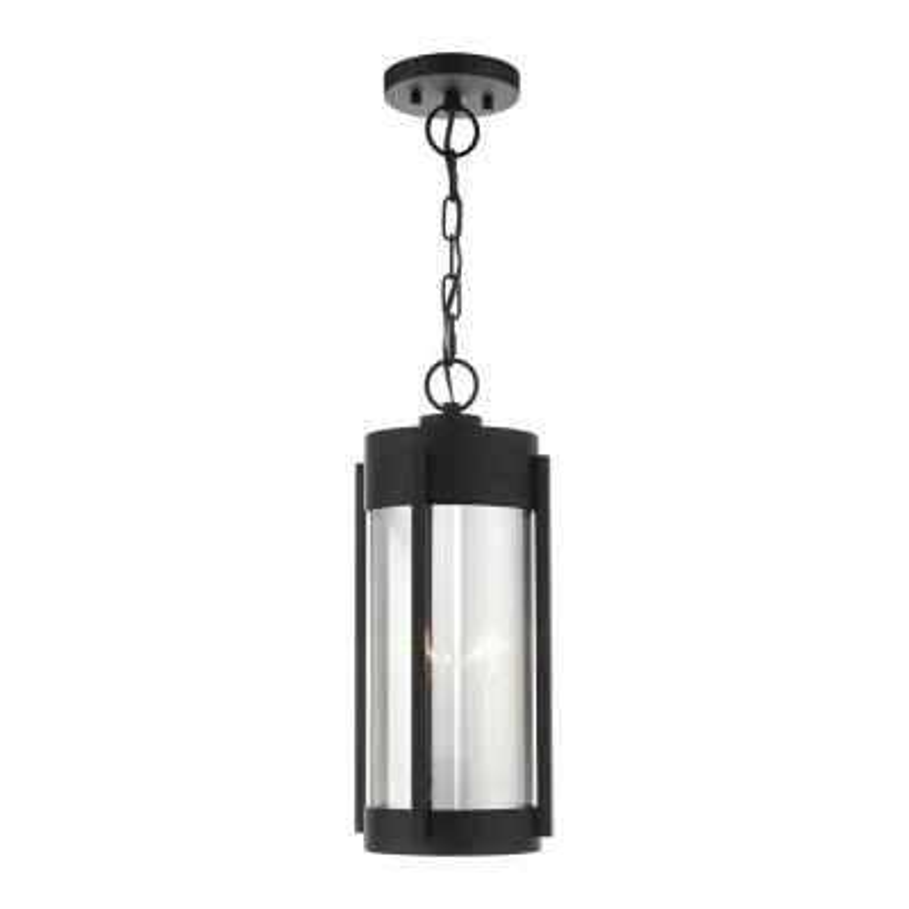Sheridan 2-Light Black Outdoor Pendant Light