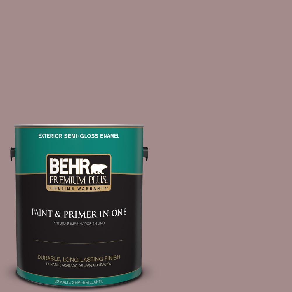 1 gal. #PPU17-15 Cameo Rose Semi-Gloss Enamel Exterior Paint