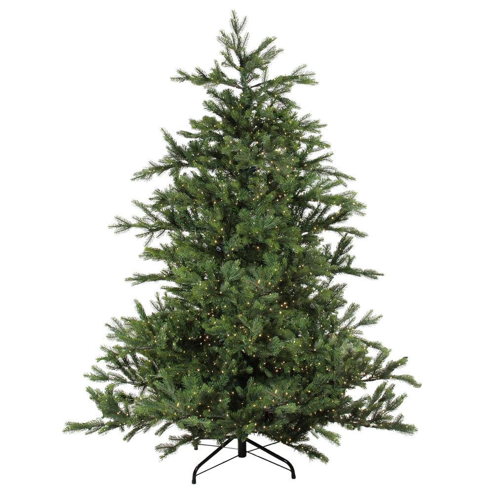 Noble Fir Christmas Tree.Northlight 90 In Pre Lit Oregon Noble Fir Artificial Christmas Warm White Led Lights