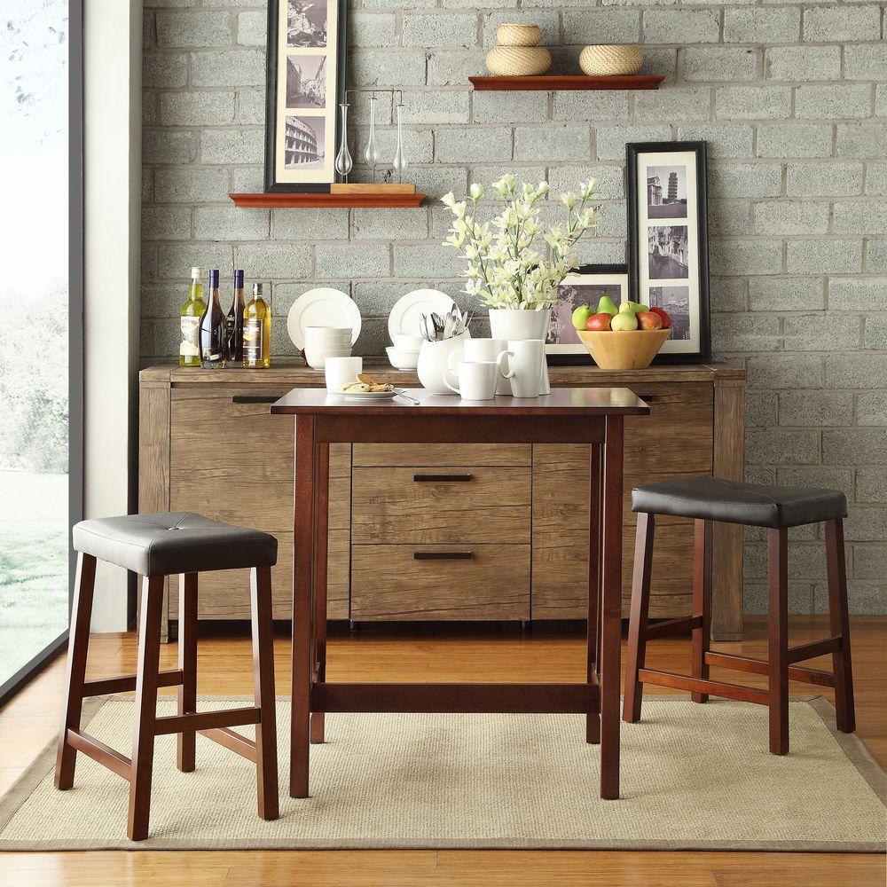 Hubbard Lane 3-Piece Cherry Bar Table Set by