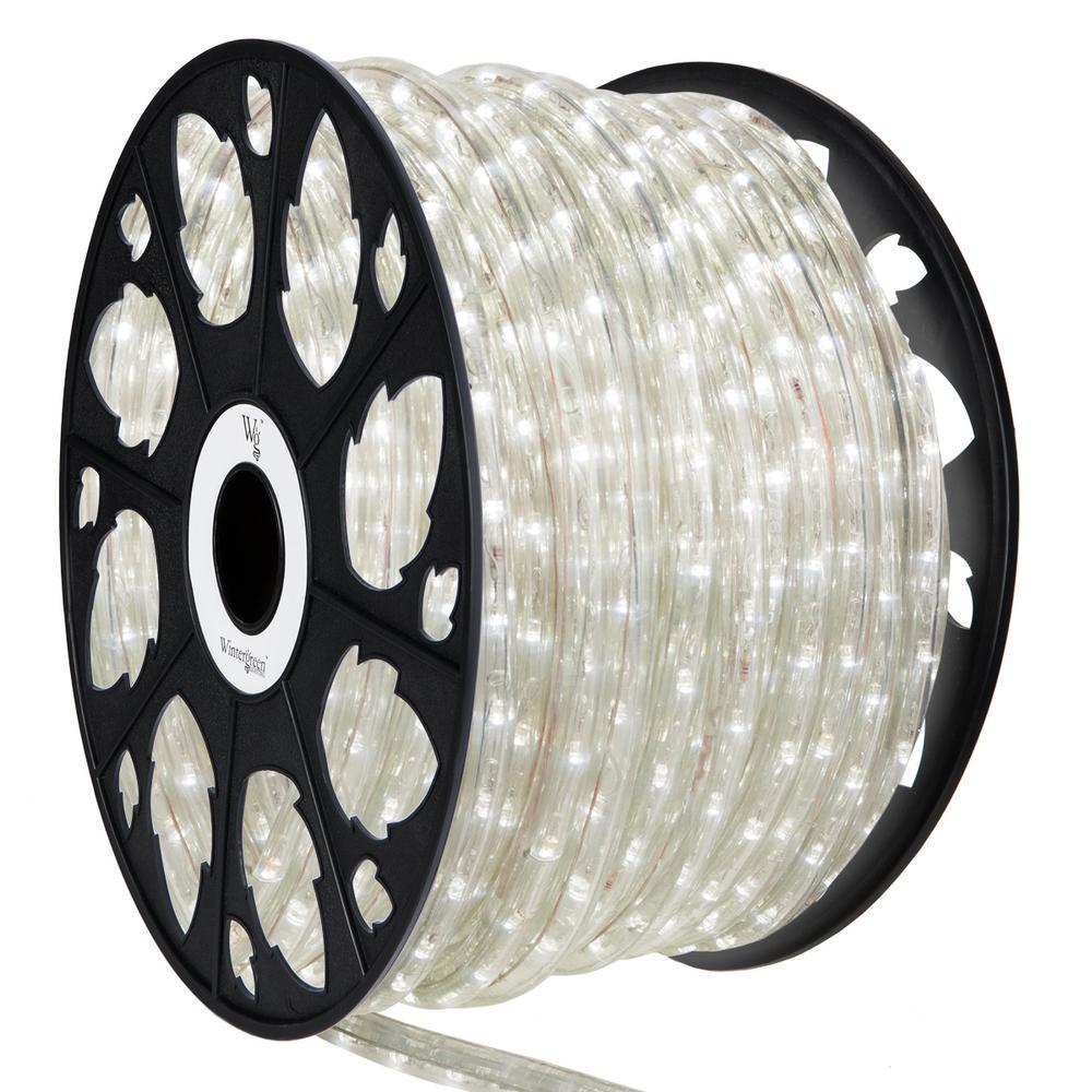 Wintergreen Lighting 150 Ft 1800 Light Led Cool White Le Rope Kit