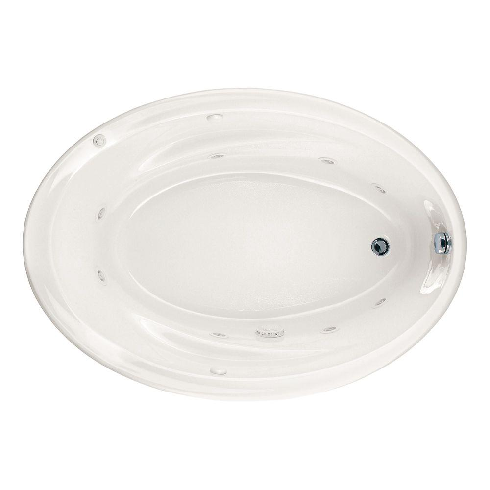 American Standard Savona 60 in. x 42 in. Oval Drop-In Whirlpool Bathtub in White