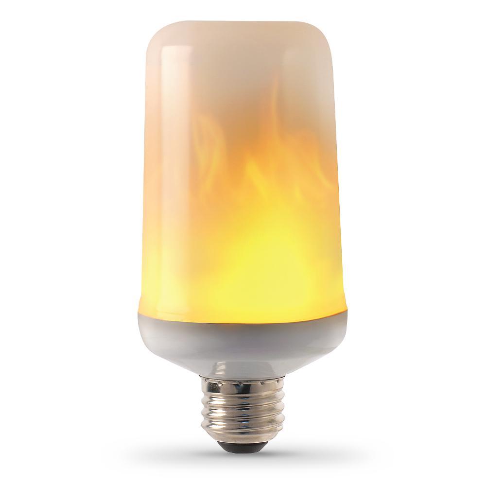 Feit Electric 3-Watt T60 Flame Design LED Light Bulb Soft ...