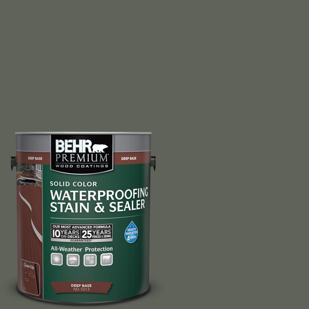 BEHR Premium 1 gal. #SC-131 Pewter Solid Color Waterproofing Stain and Sealer