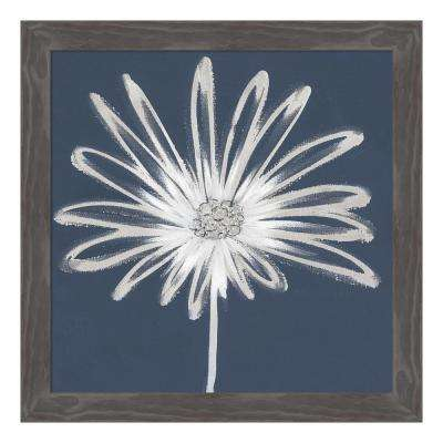 """Silver Blooms II"" by Cathy Hendrick Framed Canvas Wall Art"