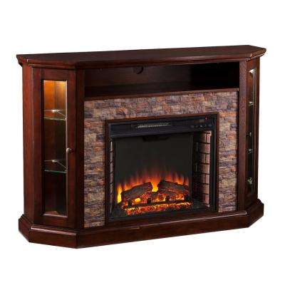Bellingham 52.25 in. W Corner Convertible Media Electric Fireplace in Espresso