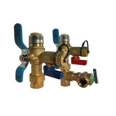 3/4 in. Tankless Water Heater Valve Set with Relocation Tee