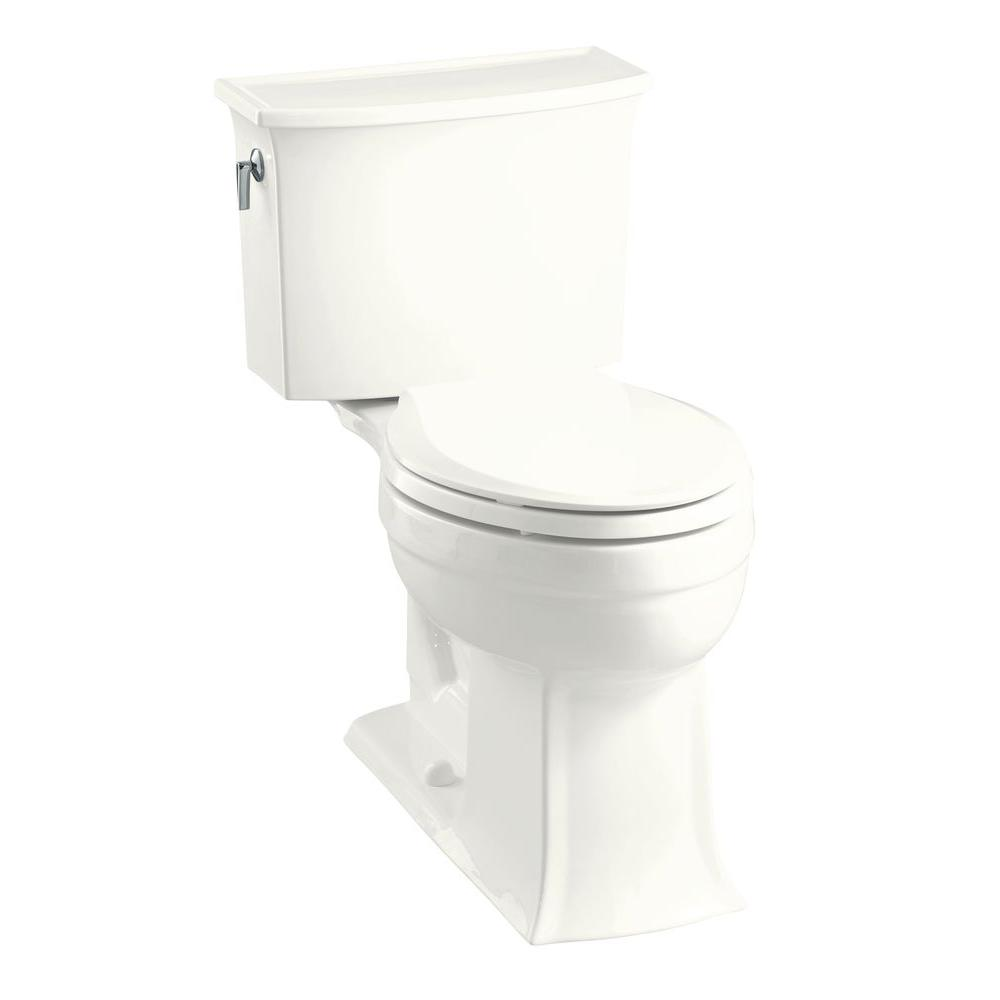 KOHLER KOHLER Archer Comfort Height 2-Piece 1.28 GPF Elongated Toilet in White-DISCONTINUED