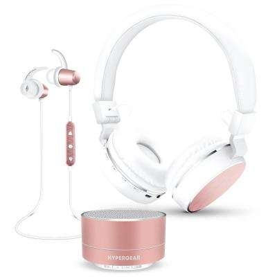 Wireless Headphone Gift Set in Rose Gold