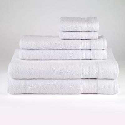 Solid 6-Piece Towel Set in White