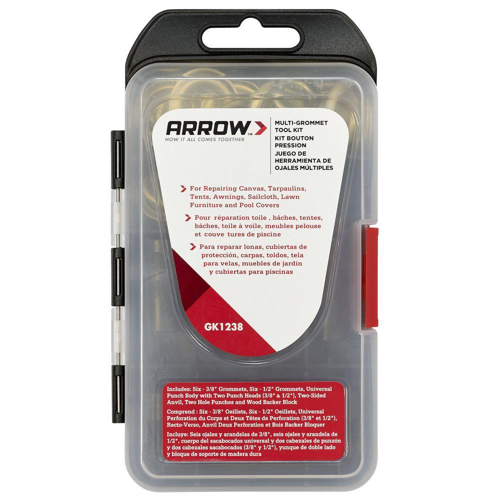 Diy Bouton De Meuble arrow 3/8 in. and 1/2 in. muti-grommet tool kit