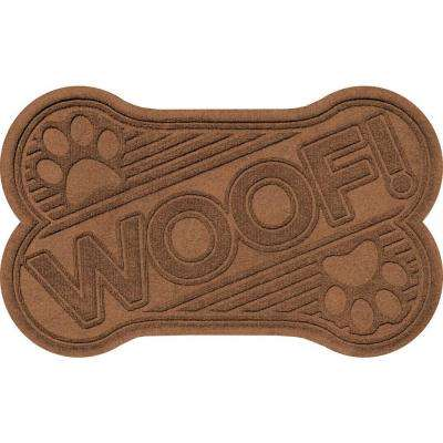 Dark Brown 24 in. x 36 in. Woof Pet Mat