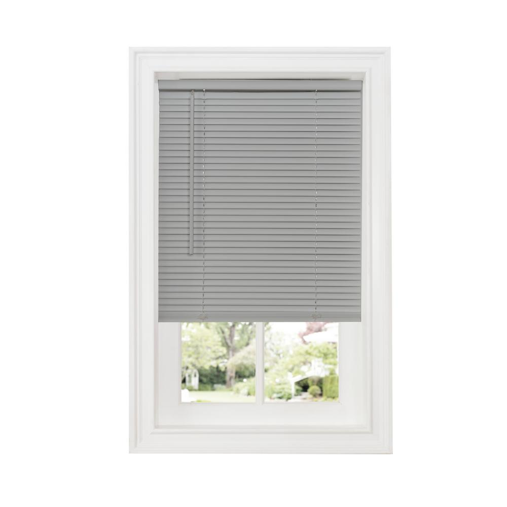 Grey 1 in. Cordless Room Darkening Vinyl Blind - 30 in.