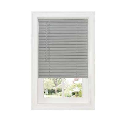 Grey 1 in. Cordless Room Darkening Vinyl Blind - 33 in. W x 64 in. L