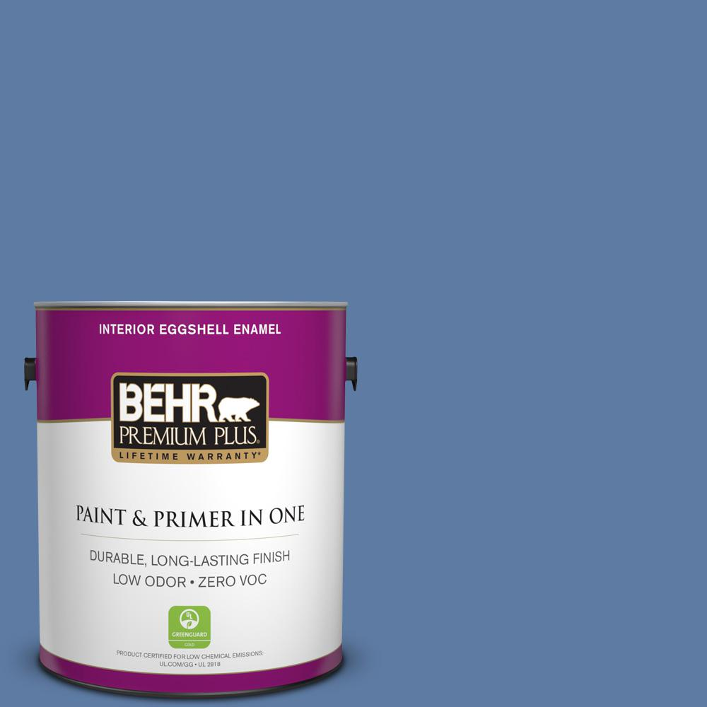 BEHR Premium Plus 1-gal. #600D-6 Blueberry Patch Zero VOC Eggshell Enamel Interior Paint