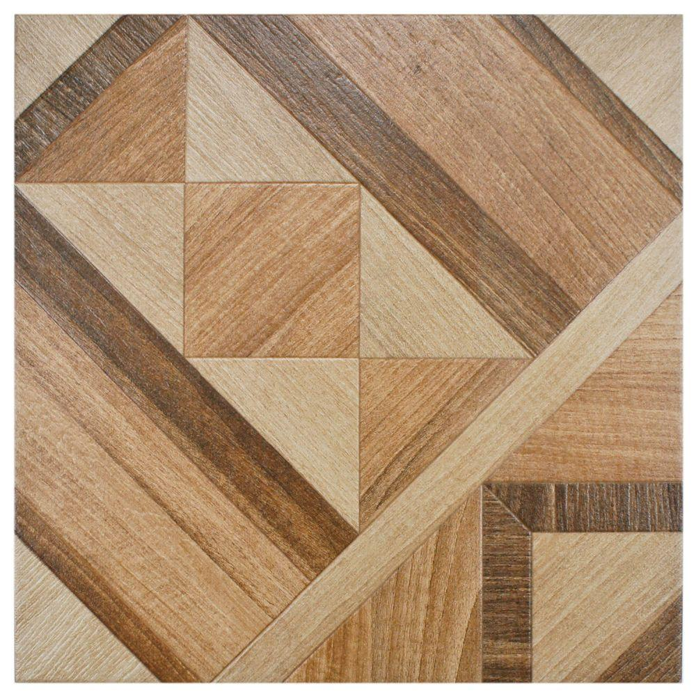 Merola Tile Versailles Natural 17-3/4 in. x 17-3/4 in. Ceramic Floor and Wall Tile (11 sq. ft. / case)
