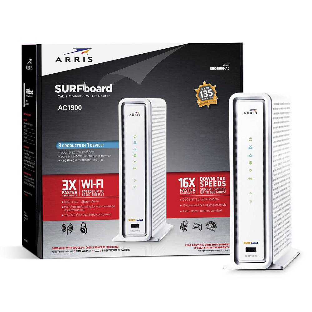 SURFboard Wireless Docsis 3.0 Cable Modem and Wi-Fi Route...
