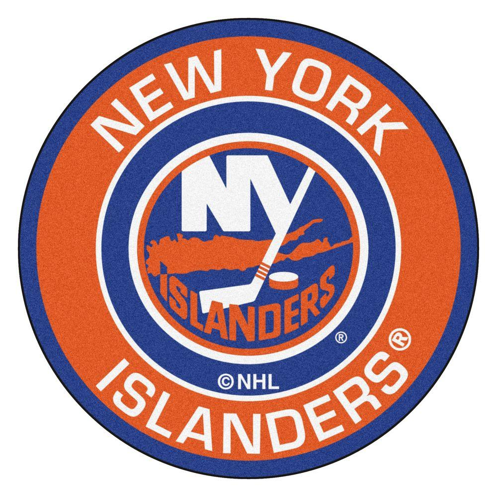 newest 60b84 eac41 FANMATS NHL New York Islanders Orange 2 ft. x 2 ft. Round Area Rug