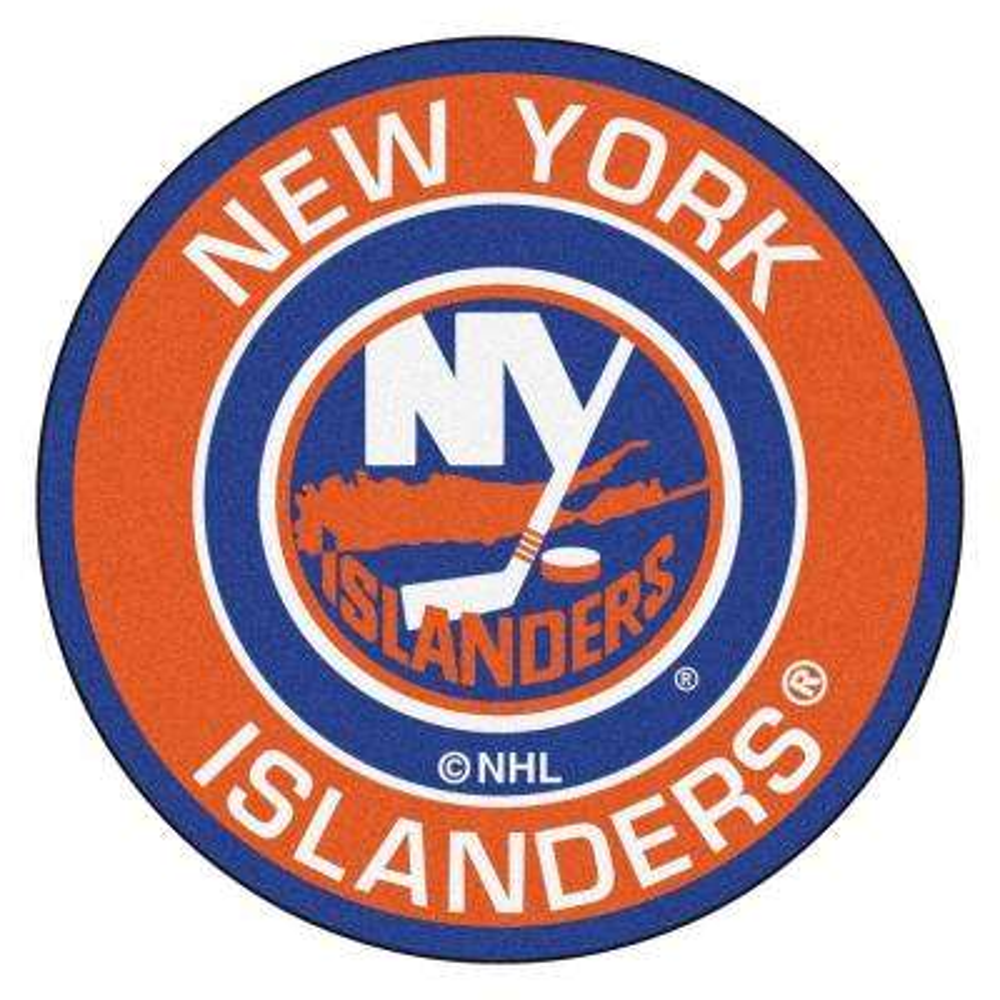 NHL New York Islanders Orange 2 ft. x 2 ft. Round Area Rug