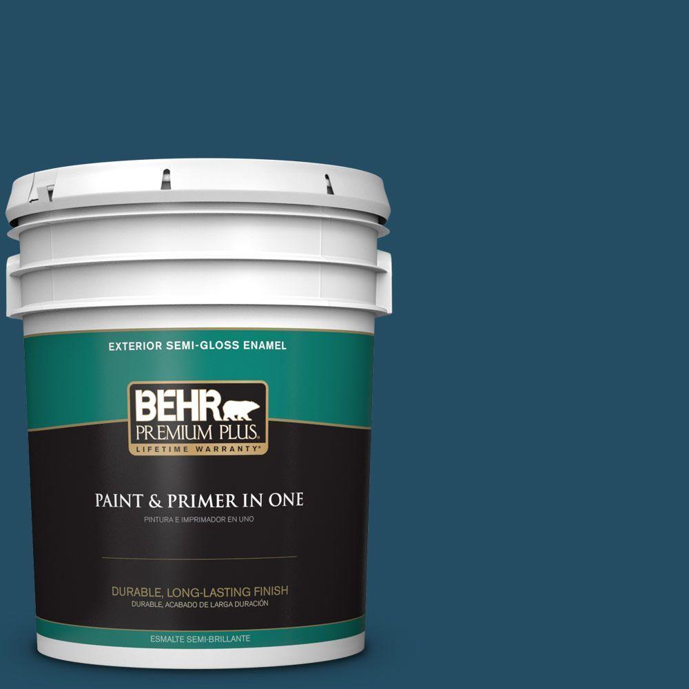 BEHR Premium Plus 5-gal. #560D-7 Planetarium Semi-Gloss Enamel Exterior Paint