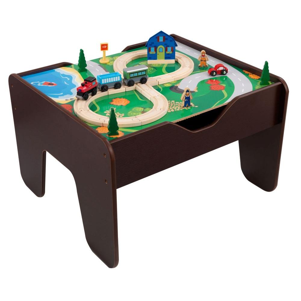 Espresso 2-in-1 Activity Table with Board Playset