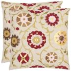 Pavon Multicolored Floral Down Alternative 18 in. x 18 in. Throw Pillow (Set of 2)