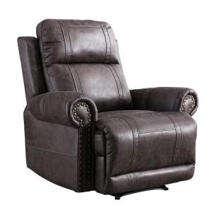 Boyel Living Dark Brown Leather Recliner Chair